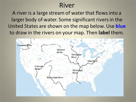 united states bodies of water map landforms of the united states ppt