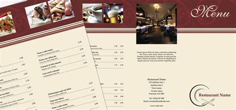 publisher menu template tri fold leaflet restaurant menu istudio publisher