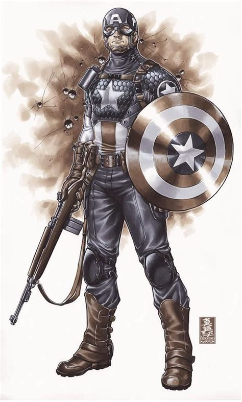 captain america by mark 1302908316 captain america by mark brooks art references inspirations pictures by and