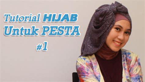 tutorial hijab untuk santai liburan tutorial hijab untuk pesta 1