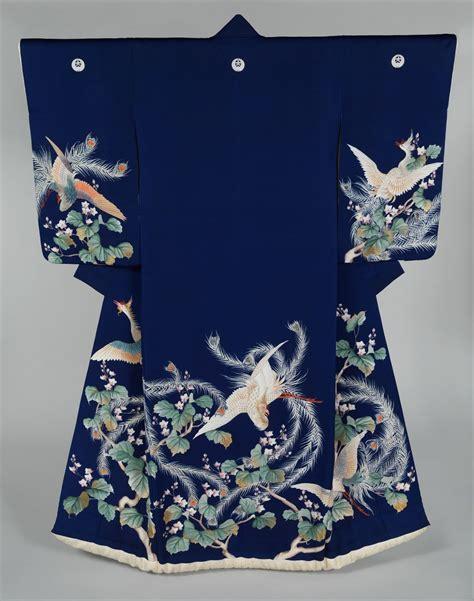 Kimono Blue Lbkim038 Metropolitan 1 鳳凰と桐の打掛 着物のよろず 針箱