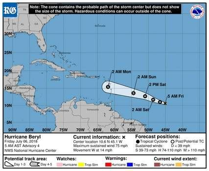 first hurricane forms in atlantic   the royal gazette