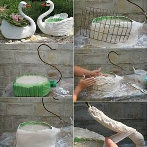 diy planter ideas diy swan planter idea home design garden architecture