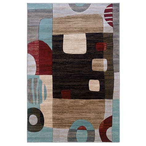 linon home decor milan collection brown and turquoise 5 ft linon milan area rug price tracking