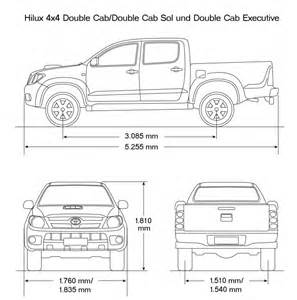 Toyota Dimensions Toyota Hilux Bed Dimensions Roole