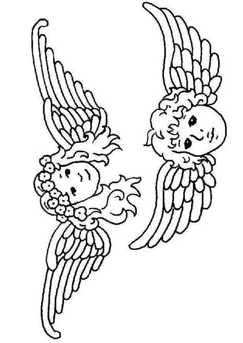 comment cuisiner l ang駘ique coloriage tete anges coloriage sur hugolescargot com