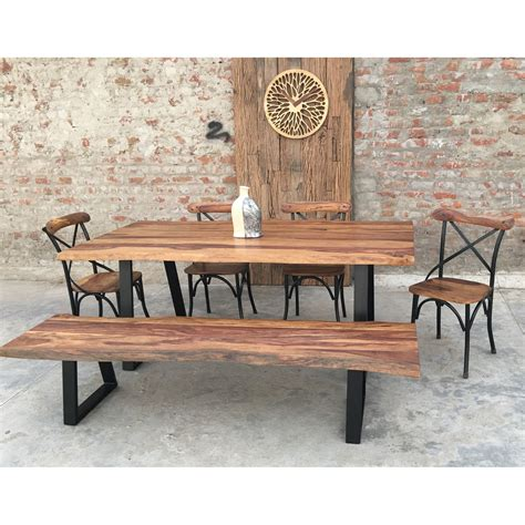 rustic dining sets furnishings rustic 6 dining set wayfair