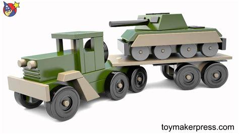 wood toy plans desert storm war tank  truck youtube