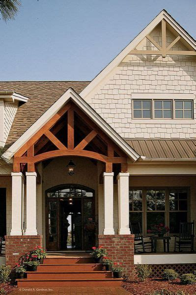 open gable entry porch pictures country house plans
