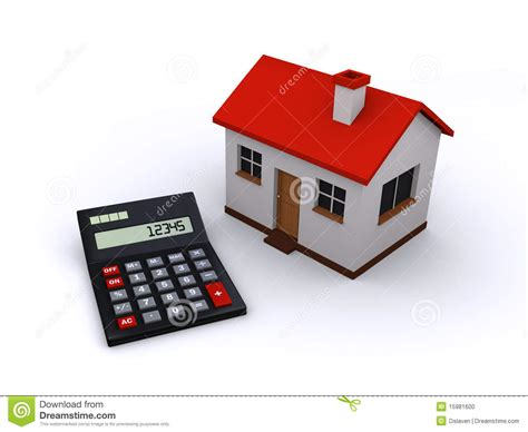 real estate calculator stock illustration image of