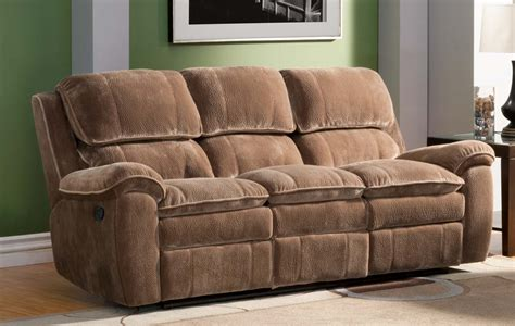 brown microfiber sofa homelegance reilly reclining sofa set brown textured