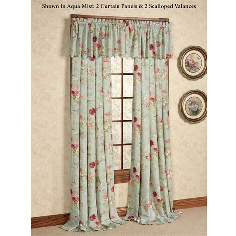 crushed taffeta curtains balmoral crushed taffeta floral window treatment