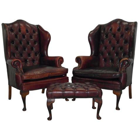william morris armchair pair of chesterfield oxblood leather william morris