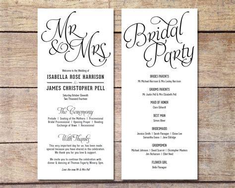 Simple Wedding Program ? Customizable ? Elegant Design