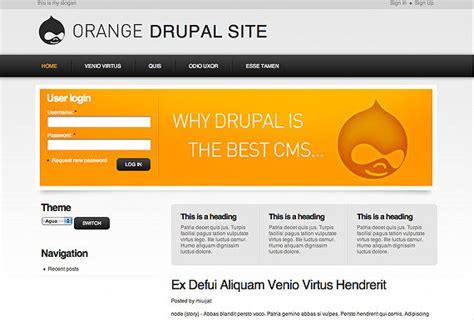 drupal themes orange 50 hand picked beautiful drupal 6 themes hongkiat