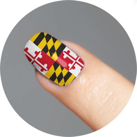 maryland flag tattoo maryland flag nail 18 set route one apparel