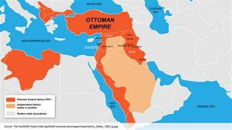 Iraq And Syria Past Present And Hypothetical Future Maps Ottoman Empire Present Day