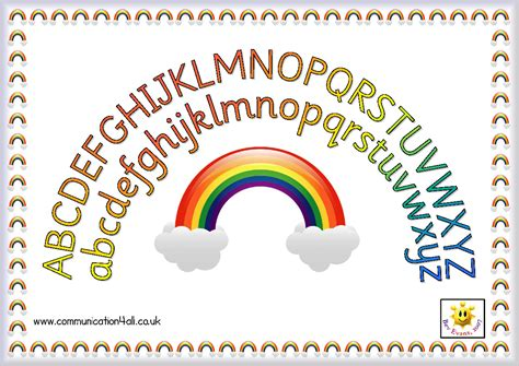 printable alphabet rainbow twinkle teaches somewhere over the rainbow