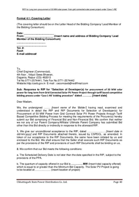 cancellation project letter rfp document for grid connected solar power project in