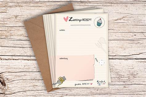 rezeptkarten vorlagen 10 x rezeptkarten din a6 mit kraftpapier umschlag ebay