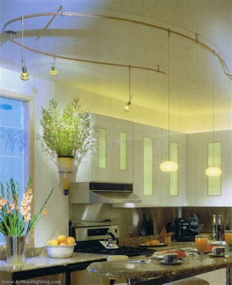 kitchen track lighting on country kitchen