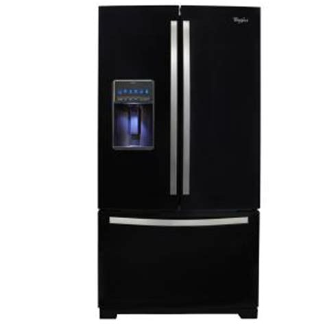 whirlpool black ice whirlpool gold 26 8 cu ft french door refrigerator in