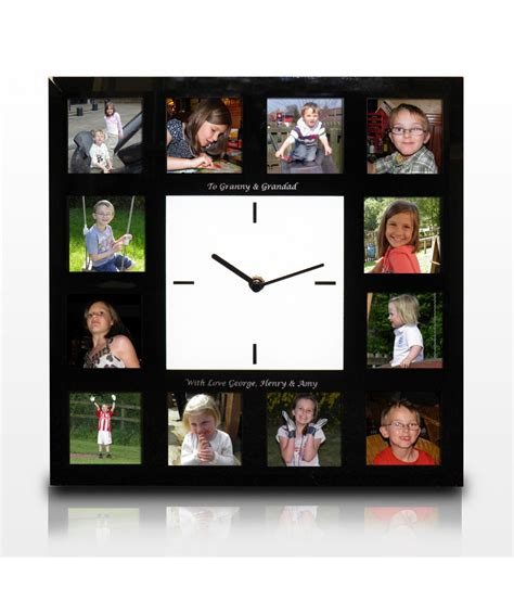 personalised clock photo frame just for gifts