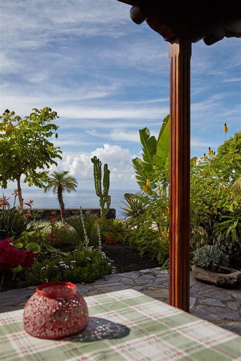 veranda garten la palma kanarische inseln casa rural los mangos mit