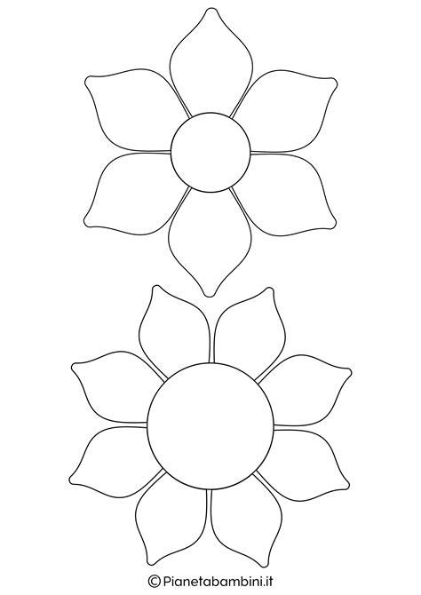 sagome di fiori 81 sagome di fiori da colorare e ritagliare per bambini