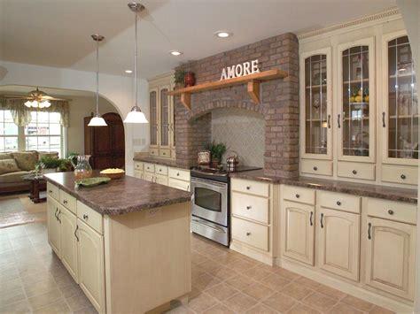 french bistro kitchen design brick hearth pine grove homes