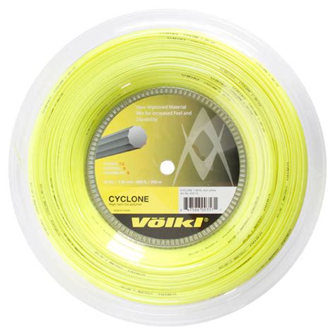 Prokennex Cyclone volkl cyclone yellow 16g reel from do it tennis