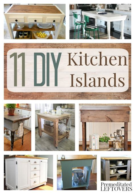 kitchen island diy diy kitchen islands