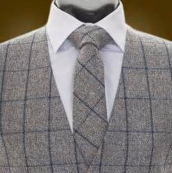 Hire Wedding Dress Tweed Waistcoat For Men In Blue Check Coes