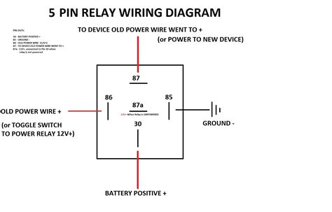 relay circuit diagram simple 5 pin relay diagram dsmtuners