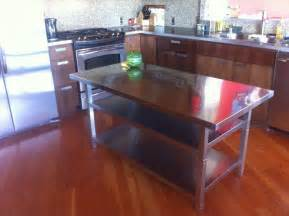metal kitchen islands stainless steel kitchen island cart ikea hackers ikea