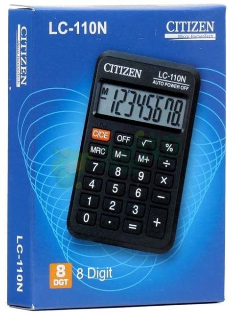 Kalkulator Citizen Lc 110n Asli citizen lc 110n calculator original ebay