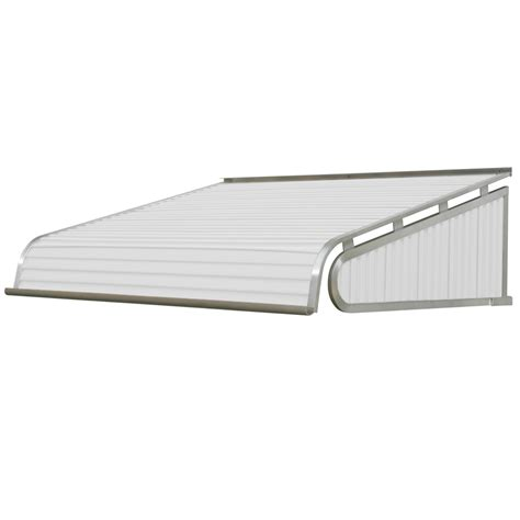 door awnings lowes shop nuimage awnings 48 in wide x 30 in projection white slope door awning at lowes com