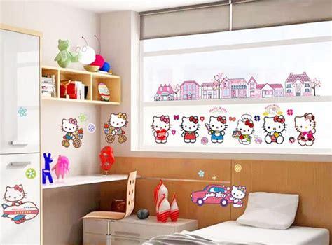 hello kitty home decor hello kitty cartoon kids rooms wall sticker playroom home