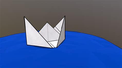 cartoon paper boat cartoon paper boat download free 3d model by kagelok