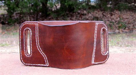 Handmade Leather Pistol Holsters - handmade leather gun holster by ozark mountain leather