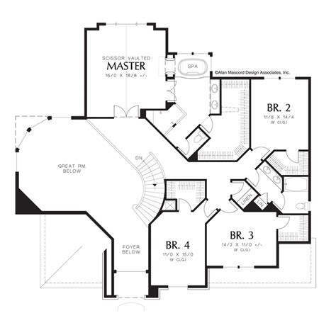 the curve floor plan mascord house plan 2368 the sedgwick
