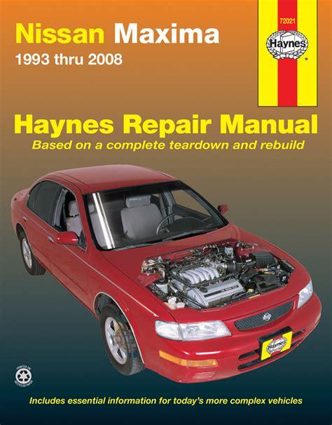 nissan maxima haynes repair manual 1993 2008 hay72021