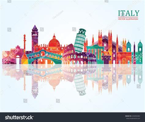 free italiano italy skyline vector illustration 234450484