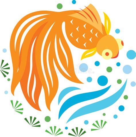 clipart pesci un nuoto dorato dei pesci nello stagno illustrazione