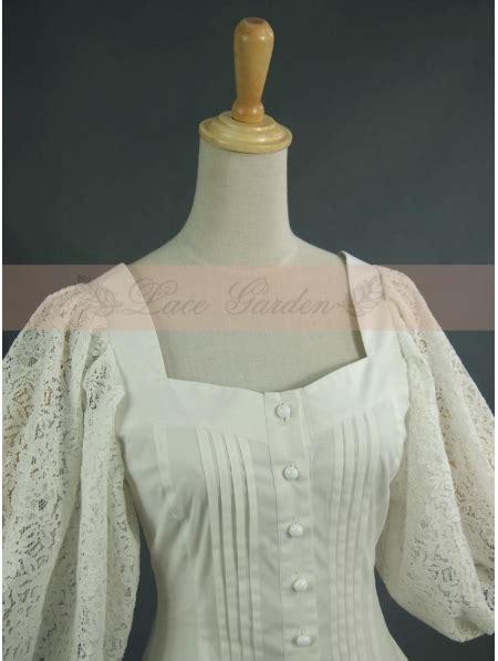 white vintage bubble sleeves blouse devilnightcouk