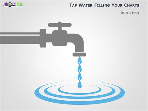 water pattern tap tap water shape to fill your powerpoint charts