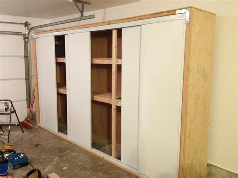 anthony valentino diy garage storage  sliding doors