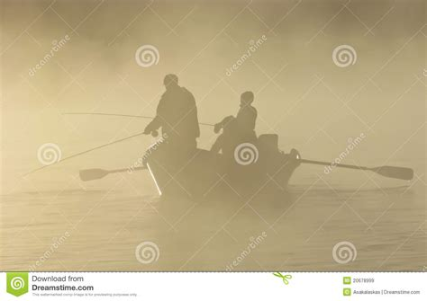 drift boat clipart fly fishing in a drift boat in the fog royalty free stock