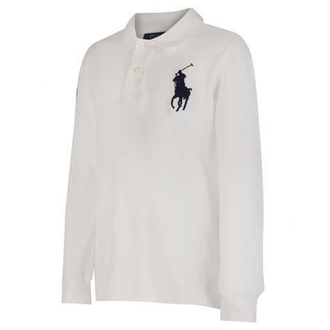 Sleeve Logo Polo Shirt ralph boys white sleeve polo shirt with logo