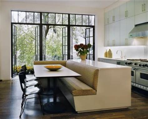 kitchen island with banquette cottage modern island banquettes yay or nay